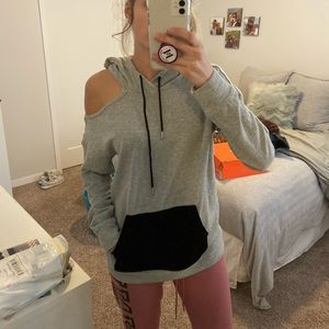 Abound gray cut out hoodie. Like new